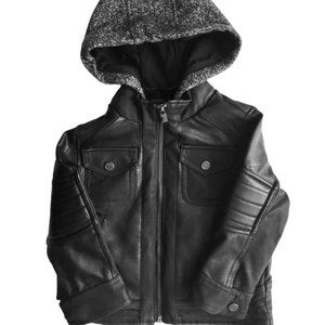 NWT: Urban Republic Hooded Pleather Jacket